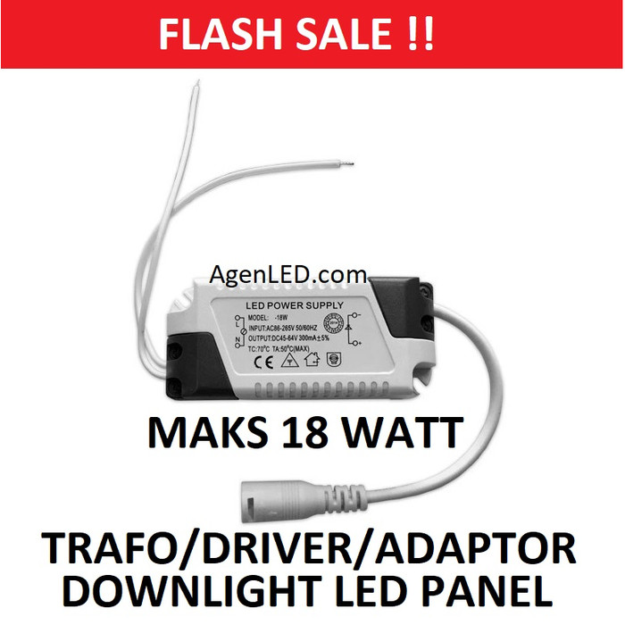 Foto Produk DRIVER ADAPTOR TRAFO 18W LAMPU DOWNLIGHT LED PANEL 18 W WATT 12 BALAST dari AgenLED