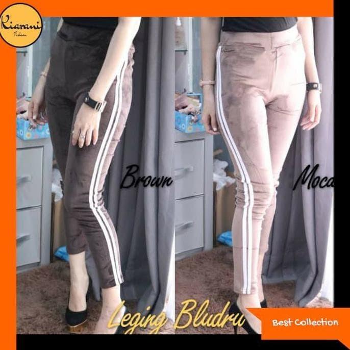 Jual Barang Bagus Celana Legging Bludru Stripes Celana Legging Wanita 291 Jakarta Timur Amelstore35 Tokopedia