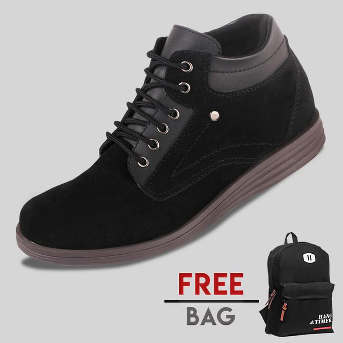 harga Sepatu casual pria s. van decka r-su01 free ransel - hitam Tokopedia.com