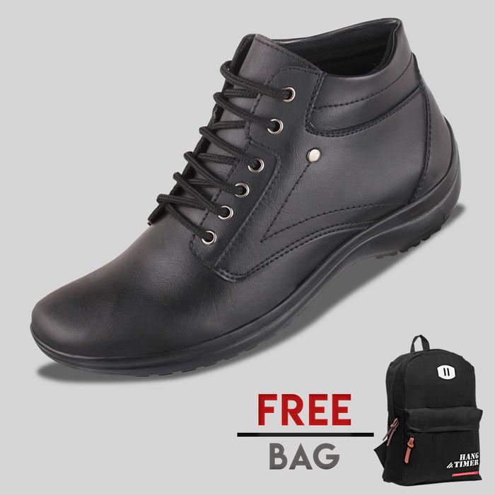 harga Sepatu casual pria s. van decka d-mz01 free tas kerja - hitam Tokopedia.com