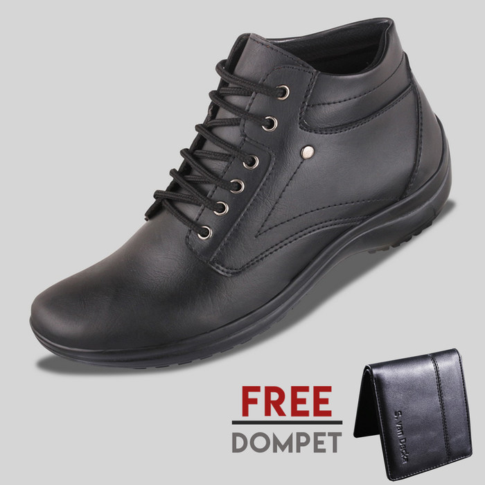 harga Sepatu casual pria s. van decka d-mz01 free dompet - hitam Tokopedia.com