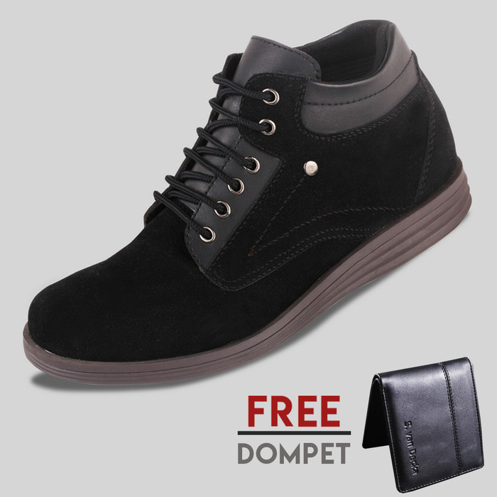 harga Sepatu casual pria s. van decka d-su01 free dompet - hitam Tokopedia.com