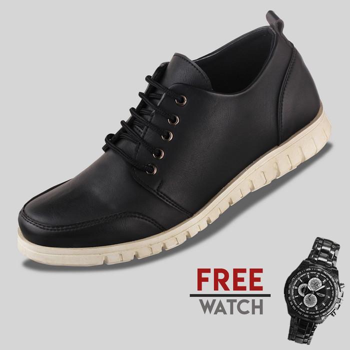 harga Sepatu casual pria s. van decka j-z464 free jam tangan - hitam - 42 Tokopedia.com