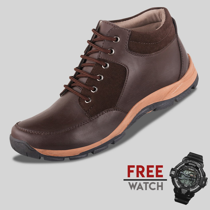 harga Sepatu casual pria s. van decka jd-wr026k free jam digital - hitam Tokopedia.com