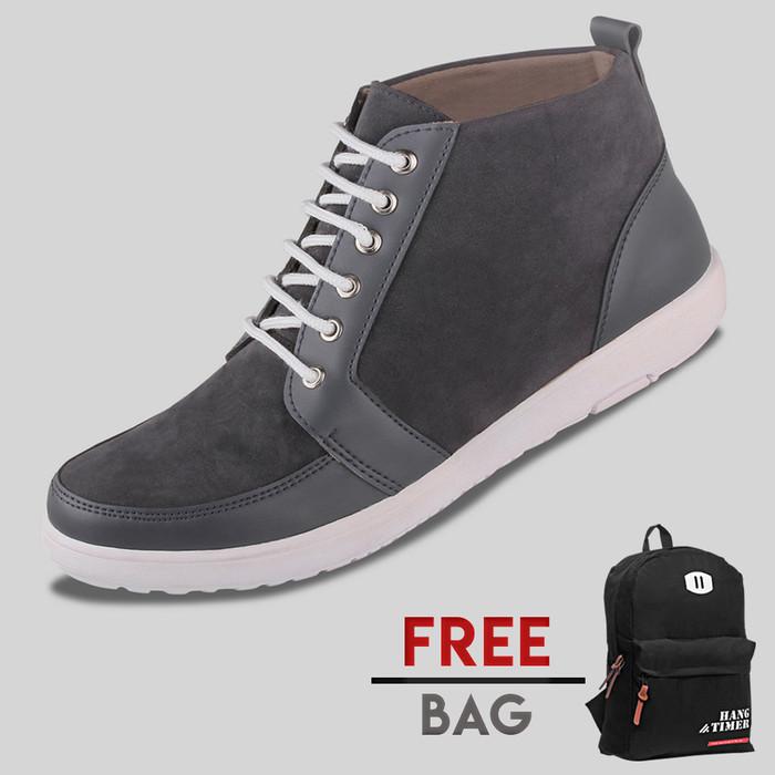 harga Sepatu casual pria s. van decka r-fs01a free ransel - hitam Tokopedia.com