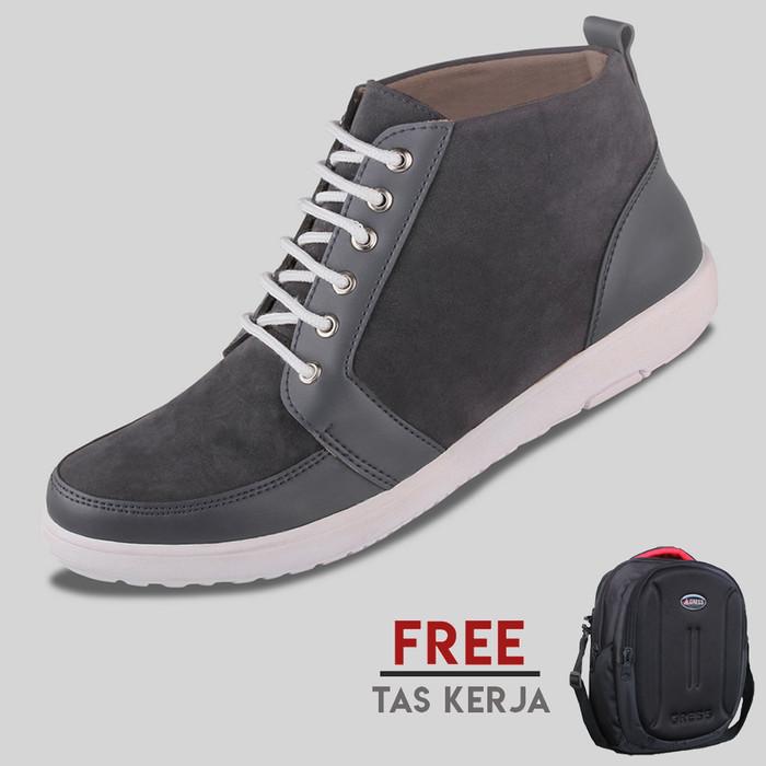 harga Sepatu casual pria s. van decka t-fs01a free tas kerja - hitam Tokopedia.com