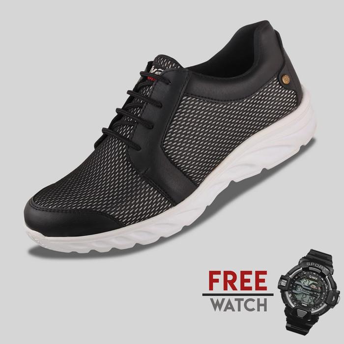 harga Sepatu casual pria s. van decka j-dlx jam digital - hitam Tokopedia.com