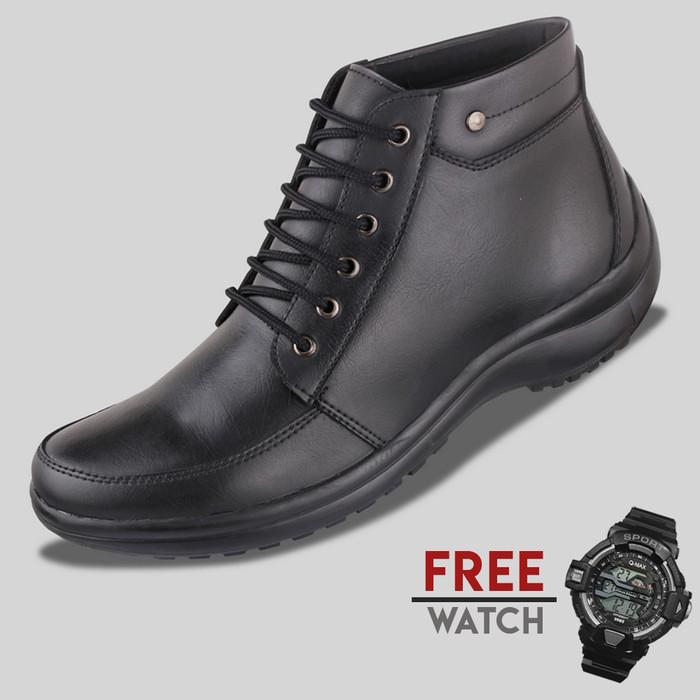harga Sepatu casual pria s. van decka jd-mz025 free jam digital - hitam Tokopedia.com