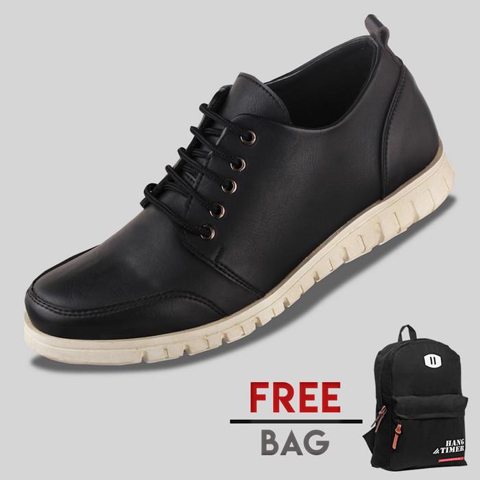 harga Sepatu casual pria s. van decka r-z464 free ransel - hitam Tokopedia.com