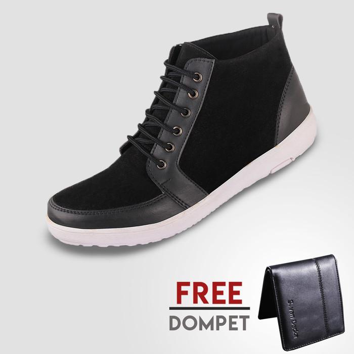 harga Sepatu casual pria s. van decka fs01 free d-fs01 - hitam Tokopedia.com