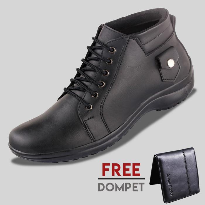 harga Sepatu casual pria s. van decka d-mz02 free dompet - hitam Tokopedia.com