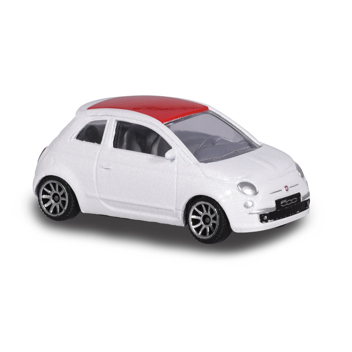 harga Majorette street cars fiat 500 new-white red Tokopedia.com