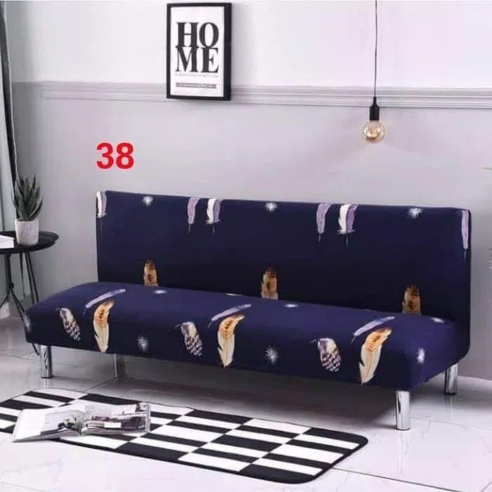 Jual Cover Sofa Bed Terbaru Bahan Stretch untuk Ruang Tamu Dekorasi