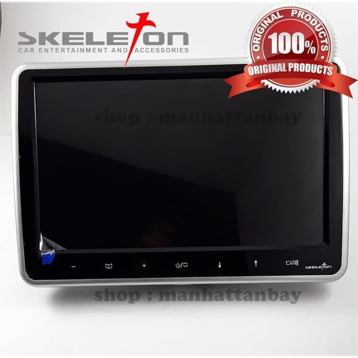 harga Car headrest monitor-clip on headrest monitor-10 inch skeleton skt-751 Tokopedia.com