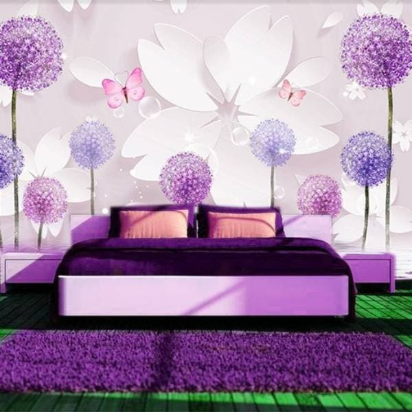 Jual Wallpaper Custom 3d Bunga Dandelion Kota Surabaya