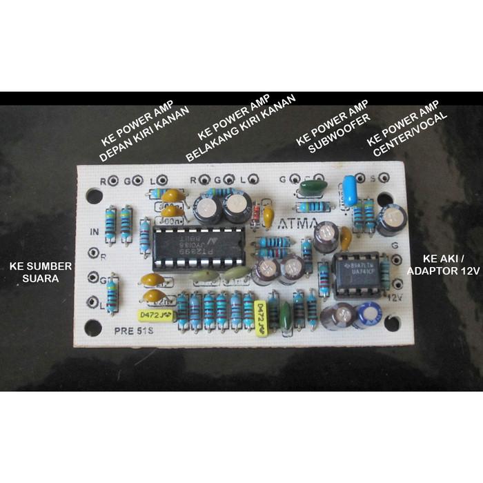 Nieuw Jual Kit Pre-amp 5.1s Home Theater PT2399 Surround Processor KK-28