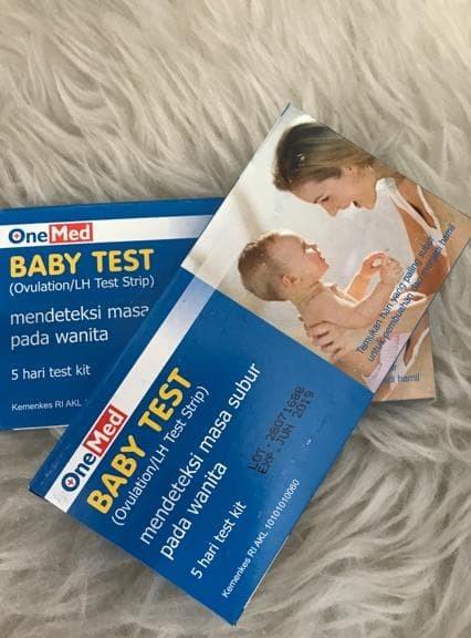 TERLARIS BABY TEST ONEMED STRIP UJI MASA SUBUR OVUTEST STRIP