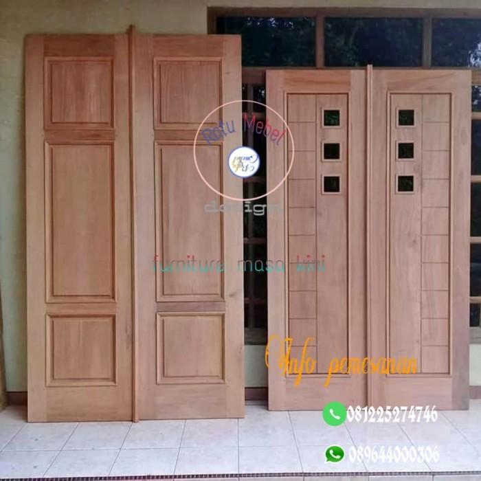 Jual pintu rumah modern pintu masuk model minimalis kayu ...