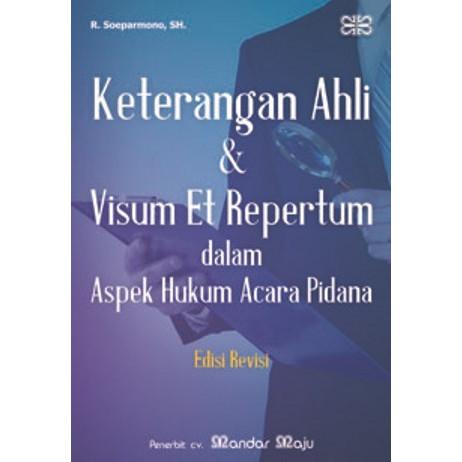 Jual Buku Keterangan Ahli Visum Visum Et Repertum Dalam Aspek Hukum Acara Kota Tangerang Selatan Toko Buku Nugroho Dua Tokopedia