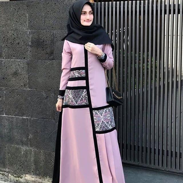 Jual READY Haura Dress Purple Size S Javina Official Gamis Busui