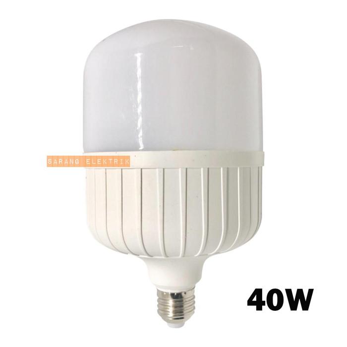 Foto Produk Lampu LED Bohlam LED 40w 40 watt Tabung Kapsul Capsul - White dari GrosirAksesorisFashion