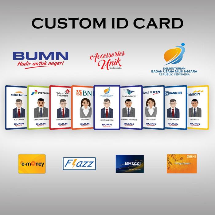 Foto Produk (1 SISI) MINIMAL ORDER 10 PCS BRI BRIZZI custom design bebas !!! dari emoney custom kartu