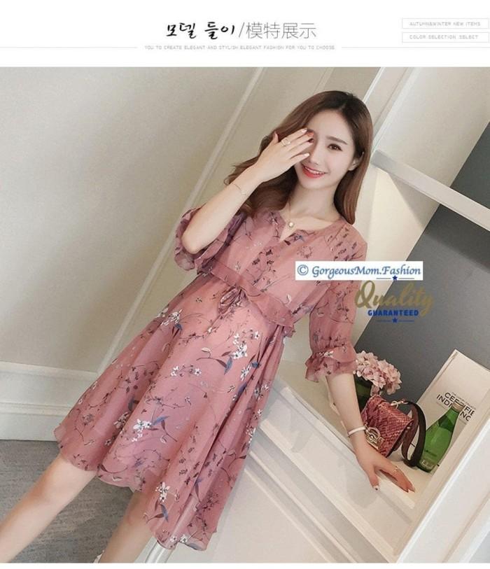 Promo Baju Ibu Hamil Dress Bumil Rok Terusan Baju Pesta Mom 11 1115