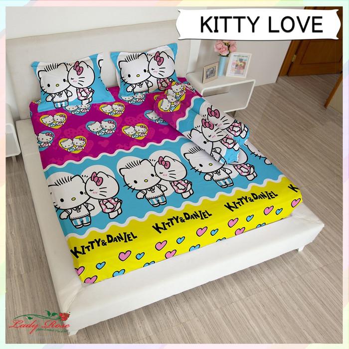 Gambar Sofa Ruang Tamu Hello Kitty  jual sprei lady rose hello kitty love 180x200 tinggi 20 kota bekasi kit cat cabang jakarta tokopedia