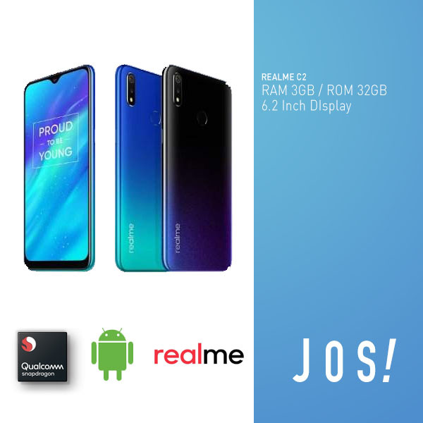 harga Realme c2 3/32gb ram 3gb internal 32gb garansi resmi indonesia - biru Tokopedia.com