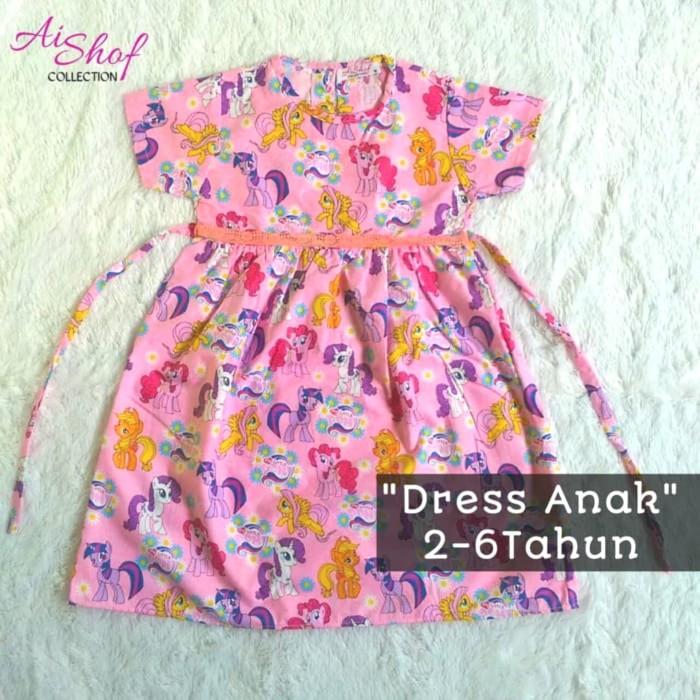 Jual Baju Katun Dress Kuda Pony Pink Anak Perempuan Umur 2 ...