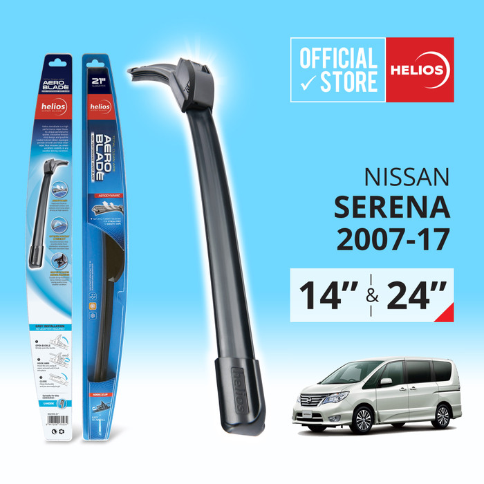 harga Wiper nissan serena (2 pcs) thn. 2007-2017 uk. 14  & 24  helios Tokopedia.com