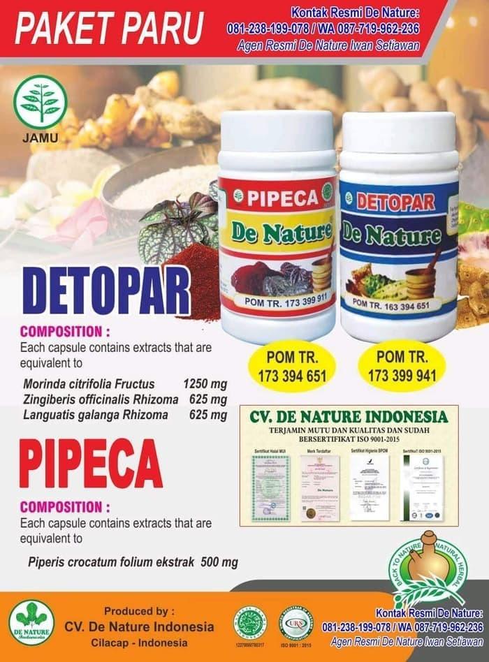 Jual Obat Detopar - Pipeca - dENature obat paru paru kering - Kab. Cilacap  - Agen Obat Paru De Nature   Tokopedia