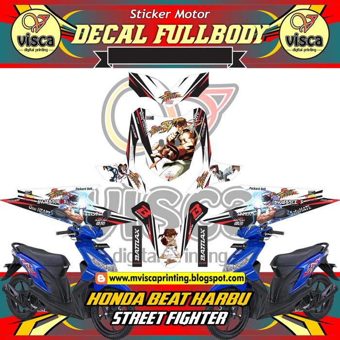 Jual Decal Striping Full Beat Karbu Street Fighter Kab Sumedang