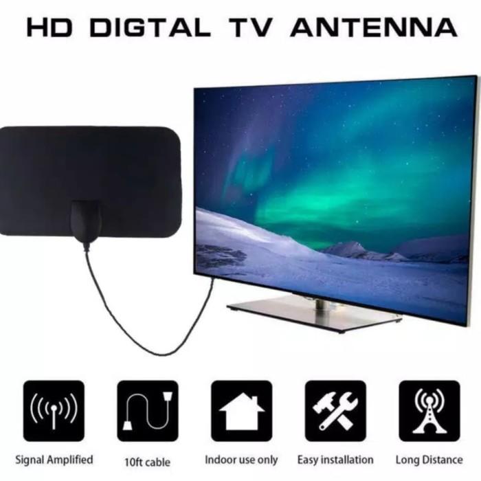 Foto Produk antena tv digital indoor HDTV 50 miles VHF UHF cocok untuk segala tv dari hokitama motor