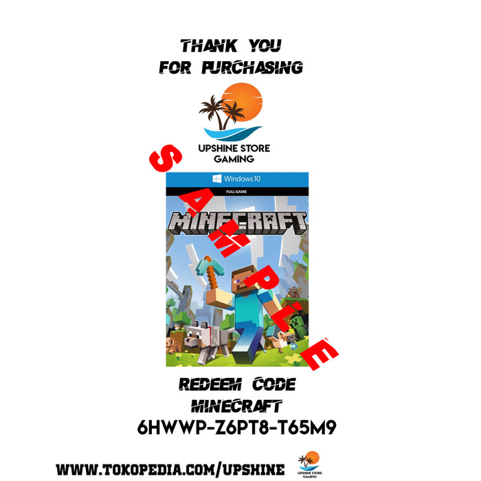 Jual Minecraft PC Redeem Code - Jakarta Pusat - UpShine Store | Tokopedia