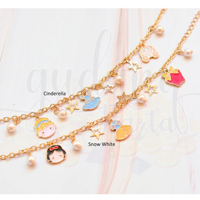 Foto Produk Gelang Mini Snow White Cinderella Lucu Unik GH 205179 - Cinderella dari Gudang Harta