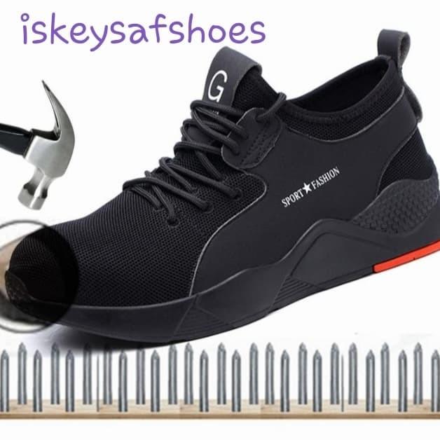 Foto Produk Sepatu Safety Sport Fashion Black dari iskey safety shoes