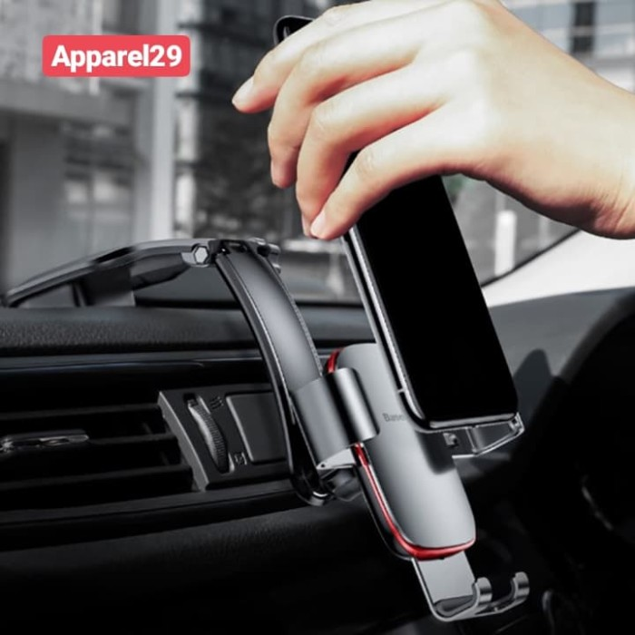 Foto Produk Car Holder Baseus Metal Age Connecting Rod Gravity Car Mount Dashboard dari apparel29