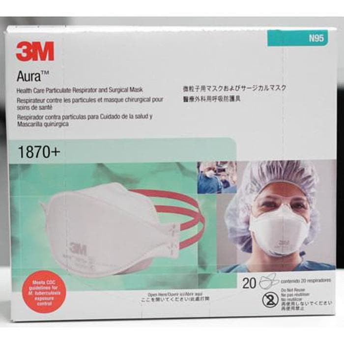 3m aura health care particulate respirator and surgical mask