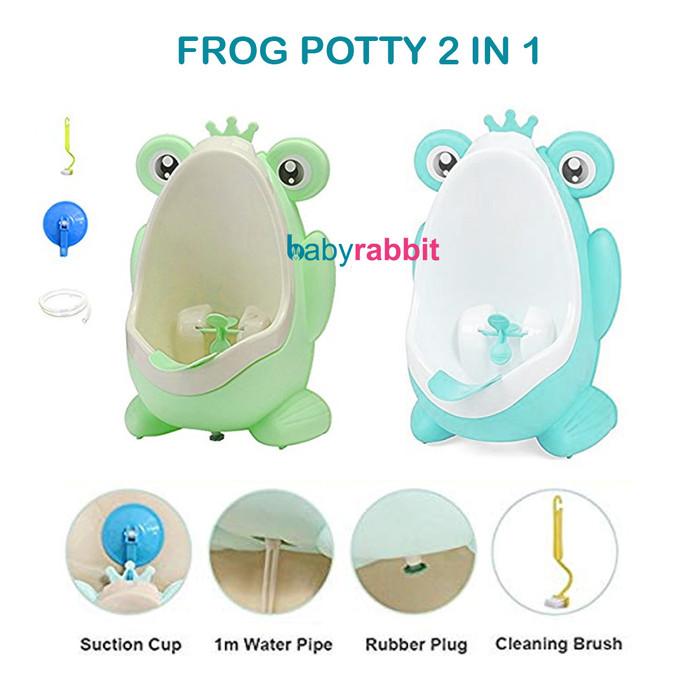 Foto Produk Kandila Frog Pee Box Training Potty / Pispot Kencing Bayi Laki-Laki dari Baby Rabbit