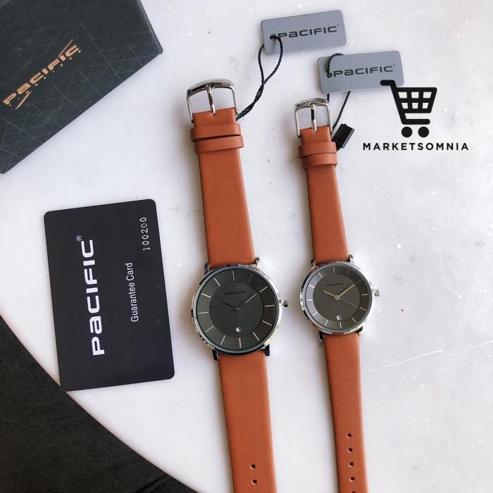 harga Jam tangan couple pacific original leather kulit coklat muda Tokopedia.com