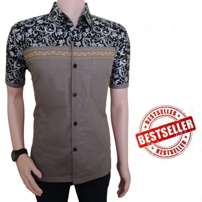 Jual Model Baju Batik Atasan Batik Kombinasi Model Baju Batik Modern