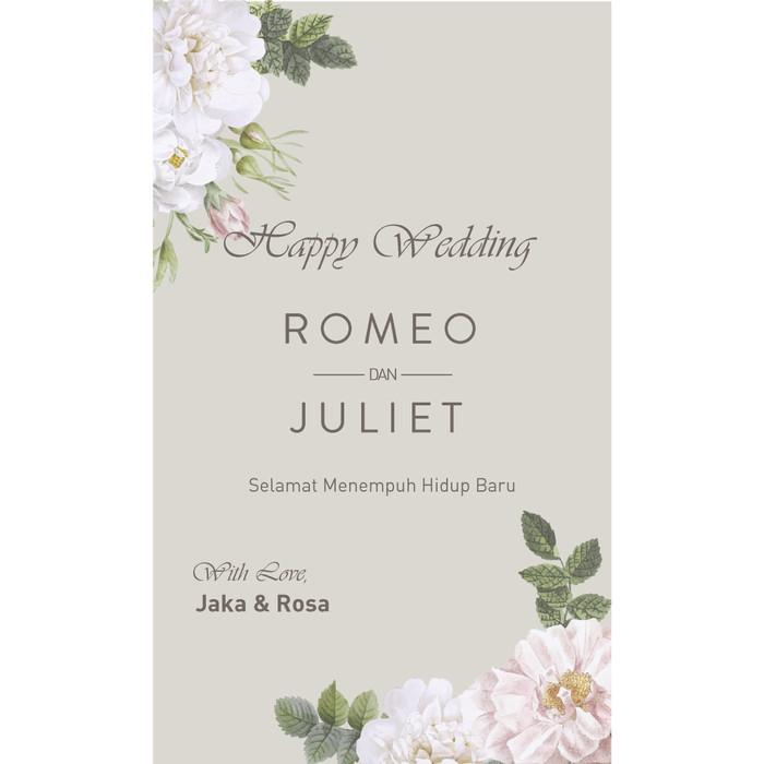 Jual Kartu Ucapan Wedding Pernikahan Putih Kab Tangerang
