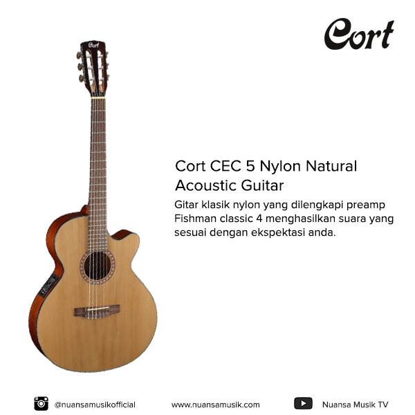 harga Cort cec 5 nylon natural acoustic guitar Tokopedia.com