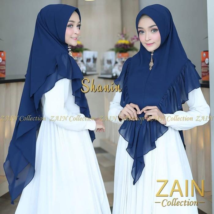 Jual Khimar Shanin Navy Khimar Grosir Jilbab Hijab Terbaru Kerudung Biru Kota Bandung Al Rasyid Hifashion Tokopedia