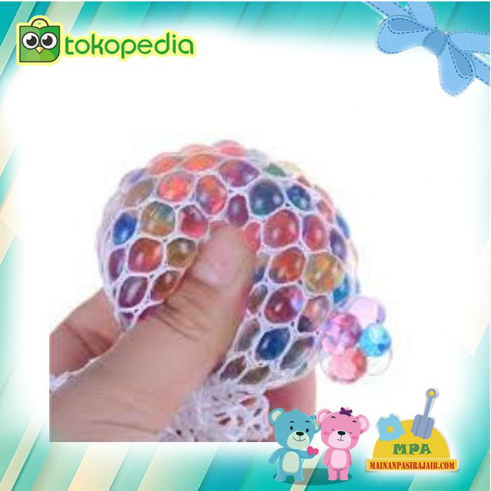 Foto Produk Mainan Anak Squishy Ball Anti Stress/Mainan Remas Anti Stress pelangi/ dari Mainan Pasir Ajaib