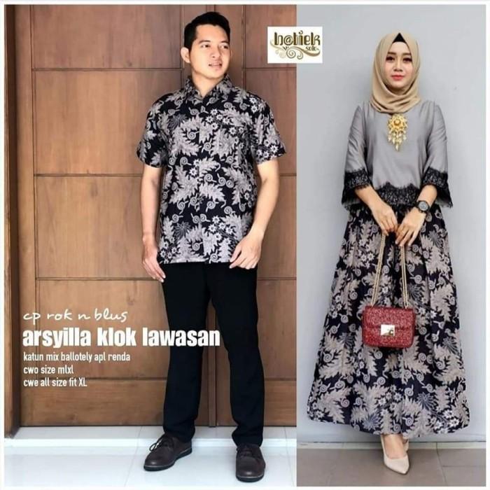 Foto Produk Couple Batik Arsyilla Lawasan Klok dari Mekar OS