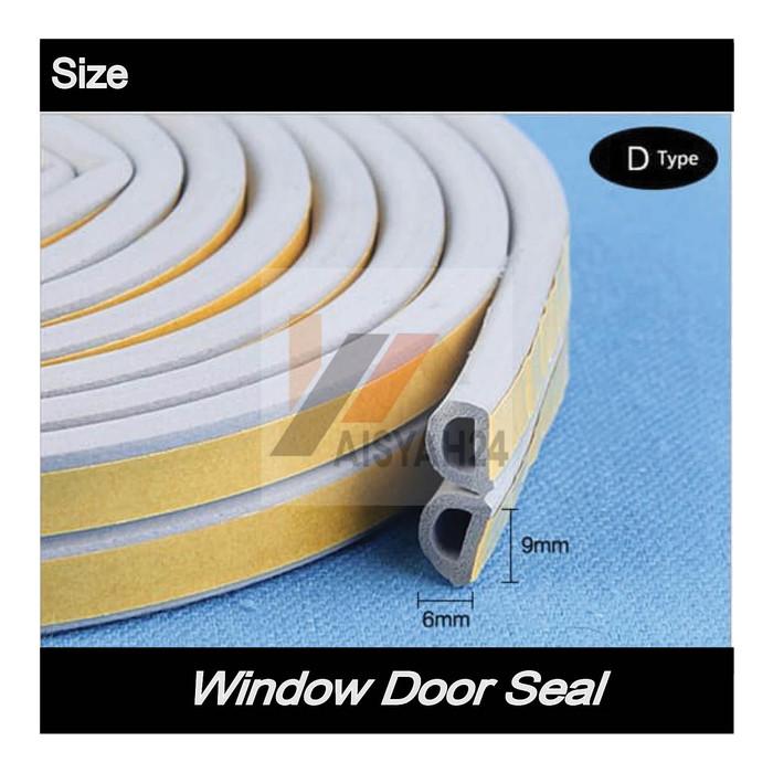 """Foto Produk Window Door Seal I Penutup Celah Pintu Jendela Profil I Tipe """"D"""" - Putih dari Toko Aisyah24"""