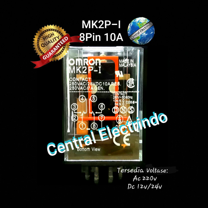 Foto Produk Relay Omron MK2P 8 PIN. dari central electrindo