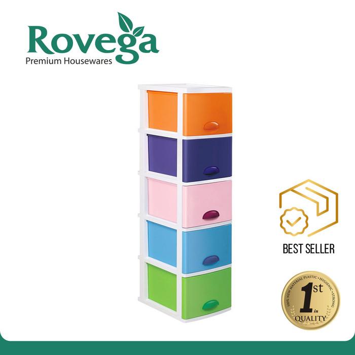 harga Rovega kido lemari plastik premium 5 susun rainbow Tokopedia.com